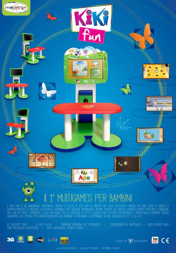 Kiki Fun multigames per bambini – il cabinet con serie di giochi di intrattenimento