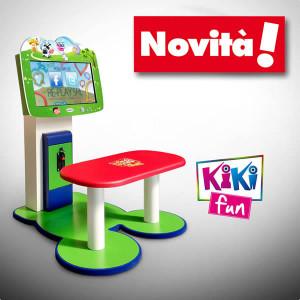 Kiki Fun multigames per bambini - il cabinet ideale per centri commerciali con serie di giochi di intrattenimento a sfondo educativo
